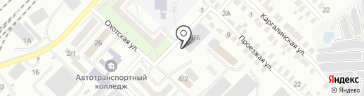 Стронгруп-Оренбург на карте Оренбурга