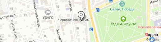 Баня на карте Оренбурга