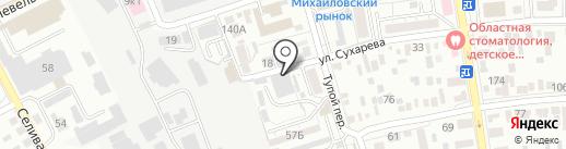 Оренбургская фабрика камня на карте Оренбурга