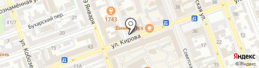 Пеплос на карте Оренбурга
