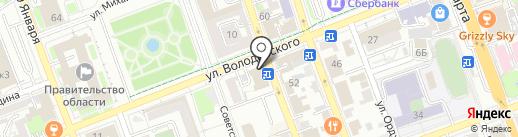 Л`Этуаль на карте Оренбурга