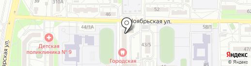 Магазин канцтоваров на карте Оренбурга