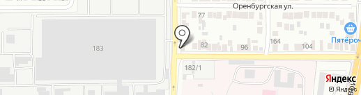 Магазин автозапчастей на карте Оренбурга