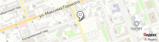 Скарабей на карте Оренбурга