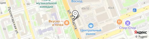 Магазин цветов на карте Оренбурга