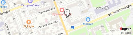 La belle на карте Оренбурга