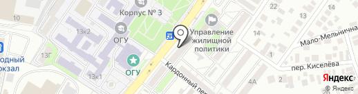 Топаз на карте Оренбурга