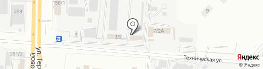 Иксора на карте Оренбурга