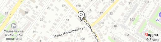 Красная Горка на карте Оренбурга