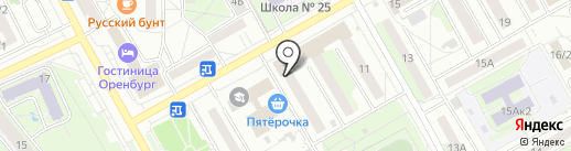Дон Батон на карте Оренбурга