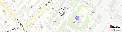 Винтаж на карте Оренбурга