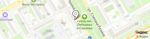 Свободная касса на карте Оренбурга