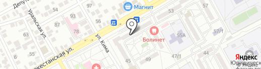 Ирина на карте Оренбурга