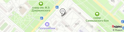Пятерочка на карте Оренбурга