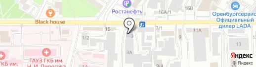Российский новый университет на карте Оренбурга