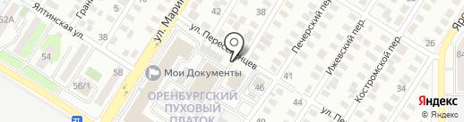 Оренпухарт на карте Оренбурга