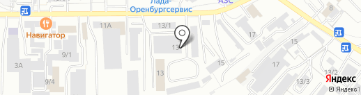 Железная Сила на карте Оренбурга
