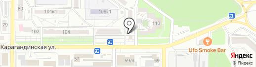 Рябушка на карте Оренбурга