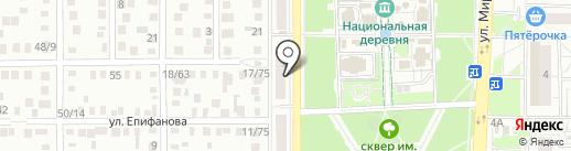 Обособленный паспортный пункт Ленинского и Центрального района на карте Оренбурга