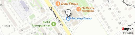 Магазин нижнего белья на карте Оренбурга