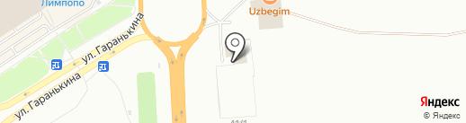 Союз Чернобыль на карте Оренбурга