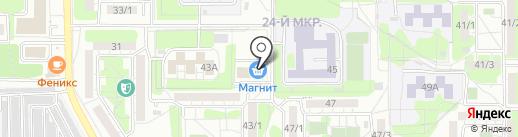 Волшебная ночь на карте Оренбурга