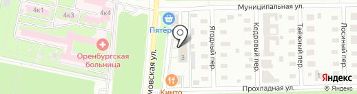 Магистр на карте Оренбурга