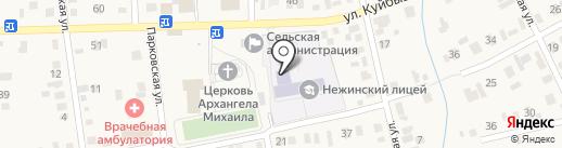 Нежинский лицей на карте Нежинки