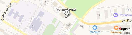 Киоск по продаже фруктов и овощей на карте Усть-Качки