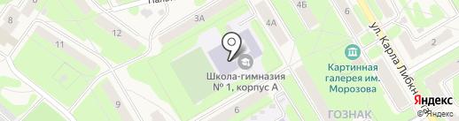 Средняя общеобразовательная школа №3 на карте Краснокамска