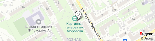 Картинная галерея им. И.И. Морозова на карте Краснокамска