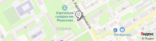 Юридический кабинет Бойко П.В. на карте Краснокамска