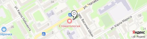 Стоматологический кабинет на карте Краснокамска