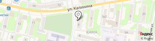 Факел на карте Краснокамска