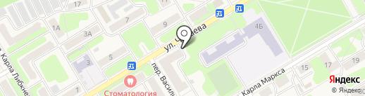 Каскад на карте Краснокамска