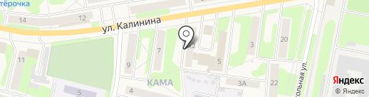 Слободник на карте Краснокамска