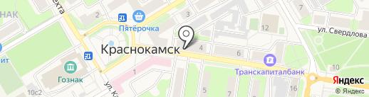 Центральная детская библиотека им. П.П. Бажова на карте Краснокамска