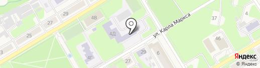 Средняя общеобразовательная школа №1 на карте Краснокамска