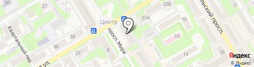 Магазин одежды и кожгалантереи на карте Краснокамска