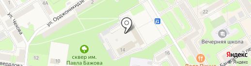 Почтамт на карте Краснокамска
