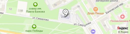 Детский сад №11 на карте Краснокамска