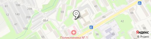 Аврора на карте Краснокамска