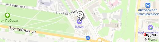Оконный ряд плюс на карте Краснокамска