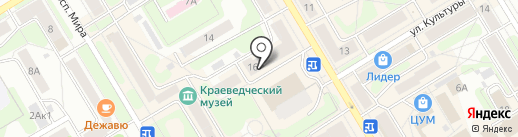 Шарлотка на карте Краснокамска