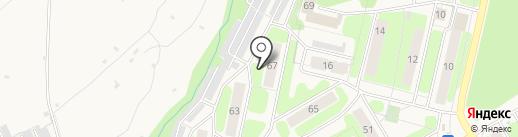 Гелон на карте Краснокамска