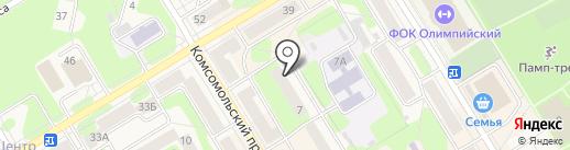 Расчетно-кассовый центр г. Краснокамска на карте Краснокамска
