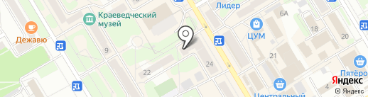Мясной дворик на карте Краснокамска