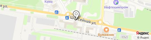Карбокам, ЗАО на карте Краснокамска