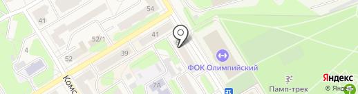 Магазин зоотоваров на проспекте Маяковского на карте Краснокамска