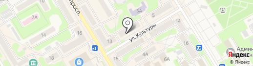 Вешалка на карте Краснокамска
